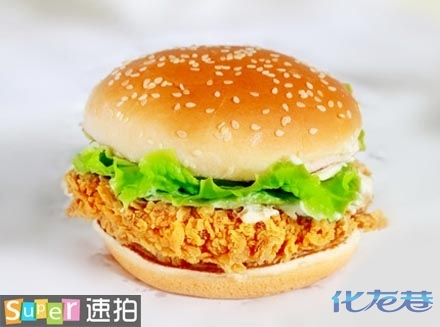 传奇今生唇膏三无产品-香辣鸡腿堡2个 鸡腿堡采用一整块无骨鸡腿肉,用特别调制的配方腌制